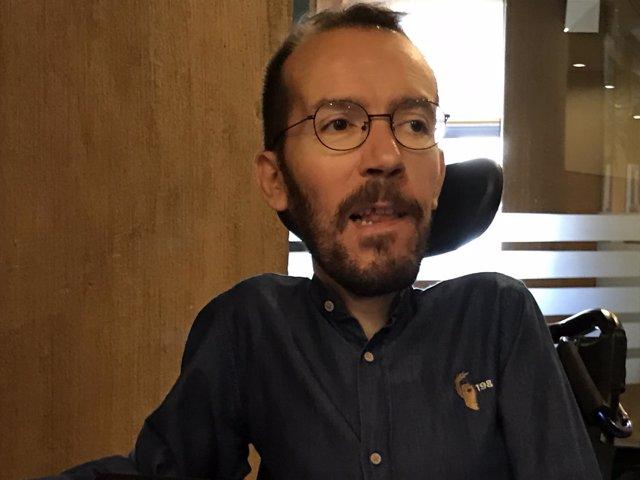 Pablo Echenique (Podemos), hoy en las Cortes de Aragón