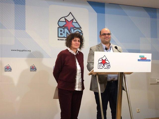Goretti Sanmartín y Rubén Cela en rueda de prensa