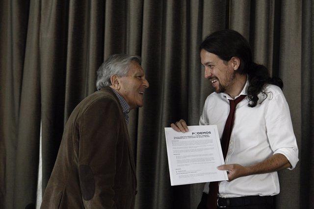 Pablo Iglesias Y Carlos Jiménez Villarejo.