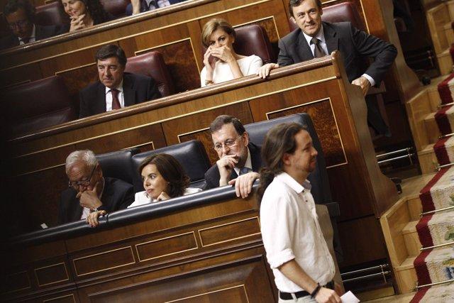 Rajoy y Pablo Iglesias en el Congreso