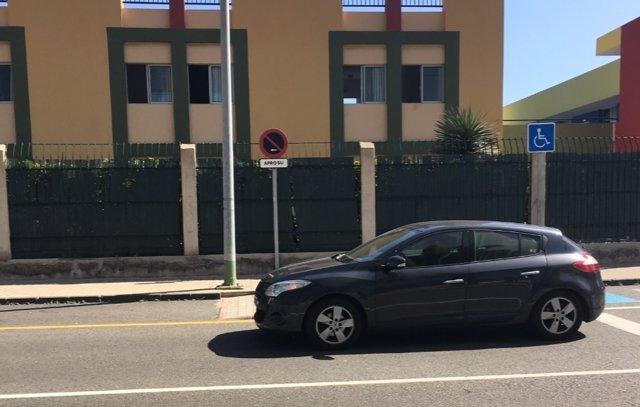 El vehículo de José Manuel Soria tras prestar declaración en la Audiencia de Las