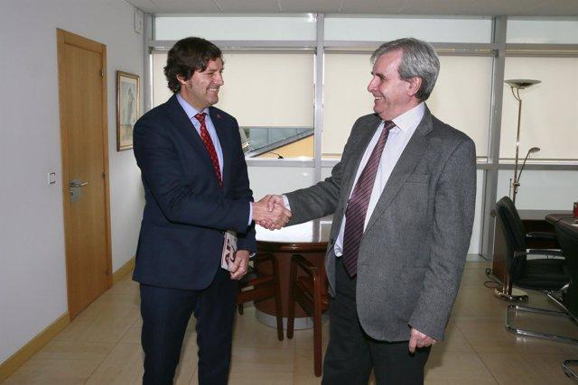 Alberto Ruiz con Rafael de la Sierra