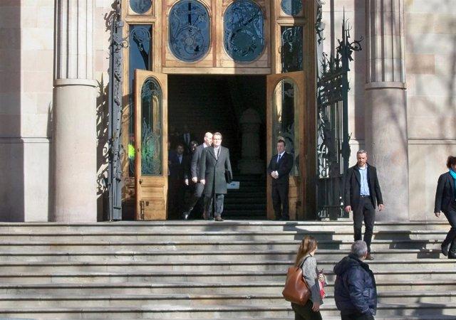 Artur Mas saliendo del juicio del 9N en el TSJC