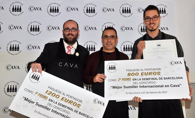 Ganadores Cataluña y Andorra 'Mejor Sumiller Internacional en Cava'