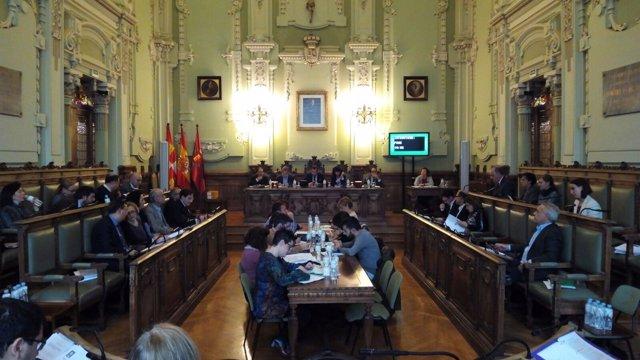 Imagen de archivo de un Pleno municipal de Valladolid