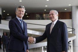 Macri llega a Brasil para reunirse con Temer y relanzar la relación bilateral