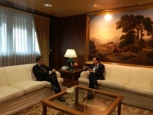 Reunión entre el conseller Pons y el ministro Nadal