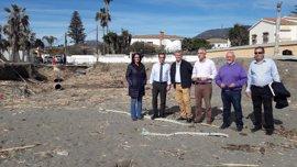 Costas invertirá 1,7 millones de euros en obras en Manilva, Casares y Estepona por los daños del temporal
