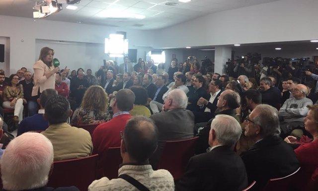 La presidenta de la Junta, Susana Díaz, inaugura sede PSOE Huelva.