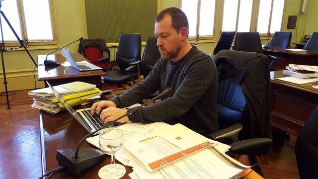 David Abril en la comisión de investigación de las autopistas de Ibiza