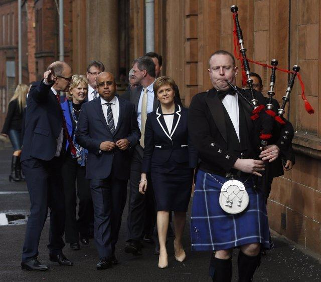 La ministra principal de Escocia y líder del SNP, Nicola Sturgeon