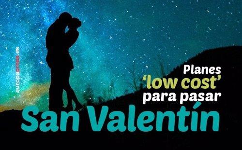 Planes 'low cost' para pasar San Valentín