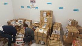 Cáceres se vuelca con los refugiados de Grecia donando 1.200 kilos de alimentos en cuatro días