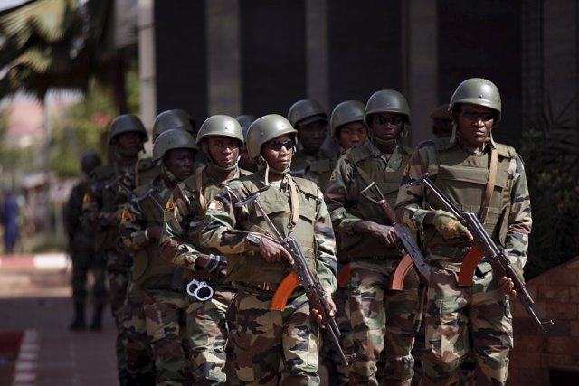 Soldados en Malí