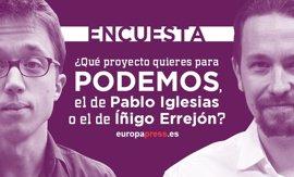 ENCUESTA: ¿Qué proyecto quieres para Unidos Podemos, el de Pablo Iglesias o el de Íñigo Errejón?