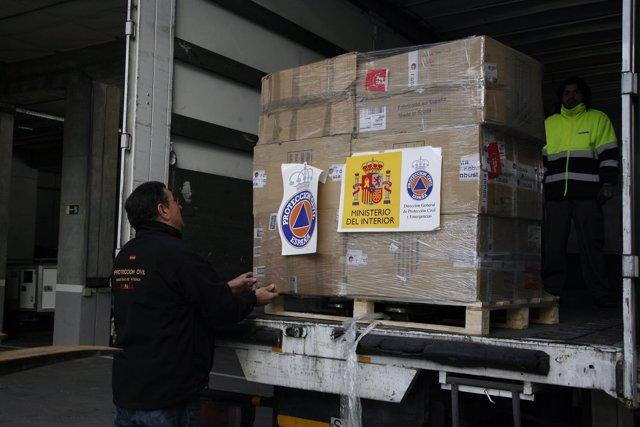 Envío de material de extinción de incendios a Chile