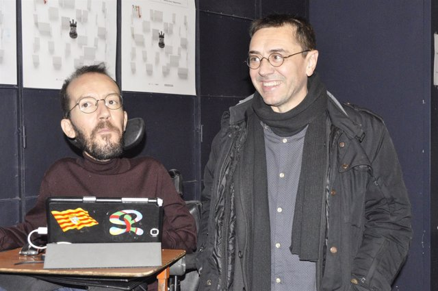 Juan Carlos Monedero y Pablo Echenique (Podemos).