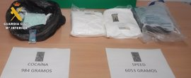 Aprehendidos seis kilogramos de speed y casi un kilo de cocaína en el extrarradio de Burgos