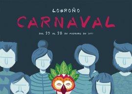 'Sé quien quieras ser', color y contrastes en el cartel del Carnaval de Logroño 2017