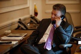 Primera conversación telefónica entre Santos y Trump