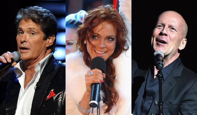 David Hasselhoff, Lindsay Lohan y Bruce Willis como cantantes
