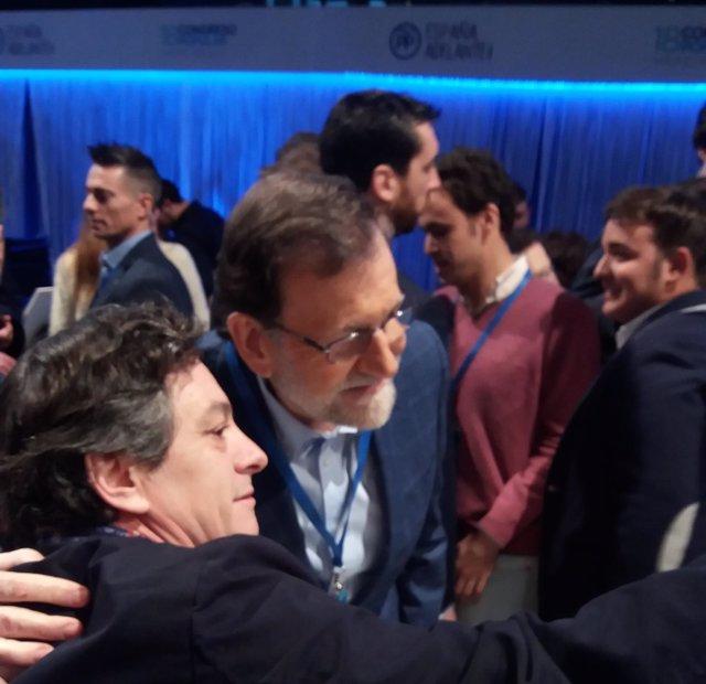 Rajoy entrando a la segunda jornada del XVIII Congreso Nacional del PP