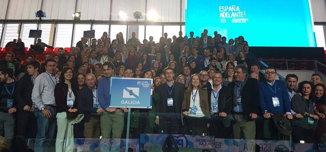 Delegación gallega en el Congreso del PP