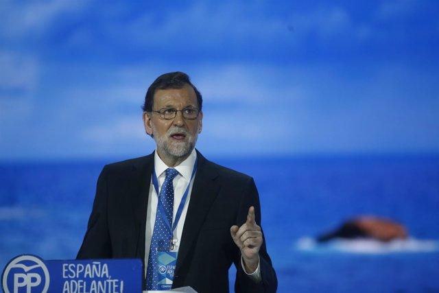 Mariano Rajoy en el Congreso del PP