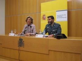 Unos 400 agentes de la Guardia Civil participarán esta semana en una campaña de control de camiones en Extremadura