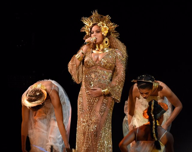LOS ANGELES - FEBRUARY 12: Beyonce performs at the 59th Annual Grammy Awards at