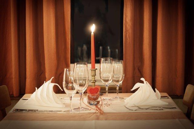 San Valentín cena romántica