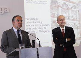 La Diputación invertirá unos cuatro millones en rehabilitar y dar uso cultural a la plaza de toros de La Malagueta