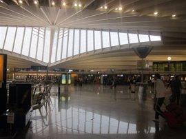 El aeropuerto de Bilbao registra 285.200 pasajeros en enero, un 9,6% más que en 2016