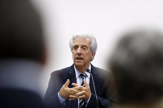 Uruguay's elected President Vazquez gives a news conference to announce the crea