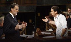 Rajoy felicita a Pablo Iglesias por su reelección como secretario general de Podemos