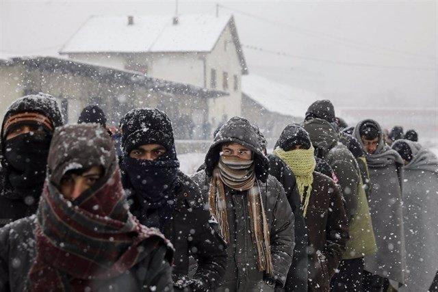 Cubanos varados en Serbia