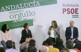 """Susana Díaz pide al PSOE que se levante frente a un PP """"que no cambia ni a Arenas"""" y ante los radicales"""