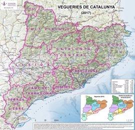 La UdL confecciona y cuelga en internet el mapa de veguerías de Catalunya 2017