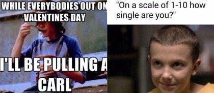 San Valentín: Los mejores memes de The Walking Dead, Juego de Tronos y Stranger Things para el Día de los Enamorados
