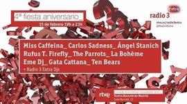 Miss Caffeina, Carlos Sadness, Ángel Stanich y Rufus T. Firefley, en concierto en el cumpleaños de Radio 3 Extra