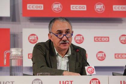 """Álvarez (UGT) dice que """"cada día que pasa"""" la patronal pierde la oportunidad de cerrar un acuerdo de salarios"""