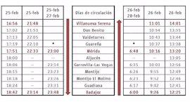 Renfe pondrá en servicio ocho trenes especiales durante el Carnaval de Badajoz