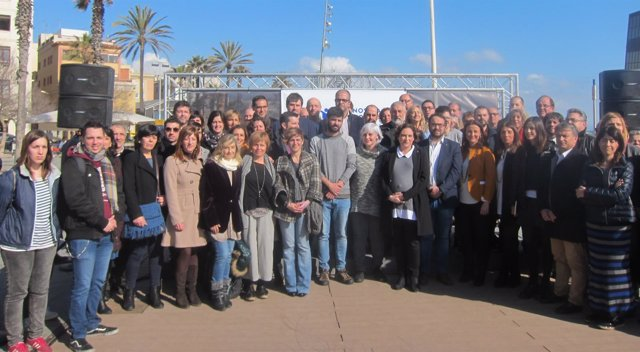 Alcaldes catalanes en un acto de Casa Nostra Casa Vostra