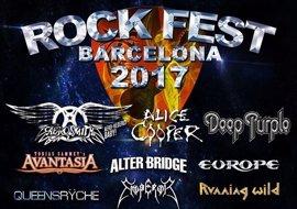 Alice Cooper, Aerosmith y Deep Purple, cabezas del cartel del Rock Fest Bcn 2017