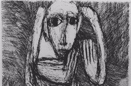 El Museo de Navarra muestra los dibujos expresionistas de Rosemary Koczy, superviviente del holocausto