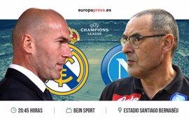 Horario y dónde ver el Real Madrid – Nápoles | Ida octavos de final Champions League