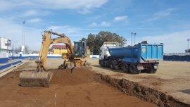 Supera.- Arranca la construcción del nuevo campo de fútbol de césped artificial de Guillena