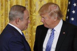 """Trump promete ante Netanyahu """"trabajar"""" por la paz y pide """"compromisos"""" a las partes"""