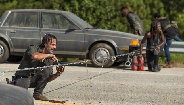 Rick y Michonne en The Walking Dead 7x09