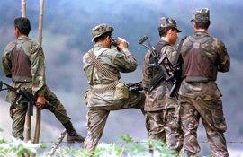 Cuatro soldados heridos por un ataque de hombres armados en el centro de Colombia